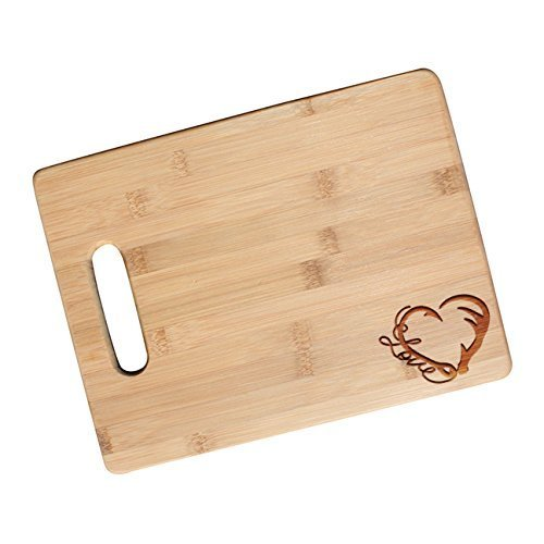Amazon Com Fishing And Hunting Love Engraved Cutting Board