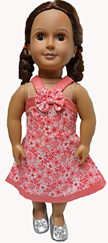 Doll Clothes Fashion Pink Sundress Fit Cabbage Patch Kid, 18 Inch Girl Doll