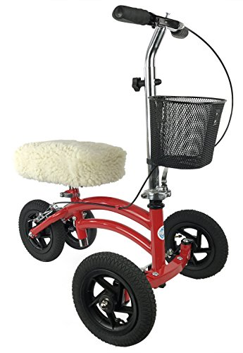 KneeRover Universal Knee Walker Knee Rest Pad Cover - Plush Synthetic Sheepskin Pad for Rolling Scooter by KneeRover (Image #1)