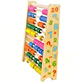 Children Kids Learning Abacus Toys,elecfan Wooden Colorful Math Manipulatives Numbers Counting Beads Educational Toy for Toddlers Preschool Boys and Girls