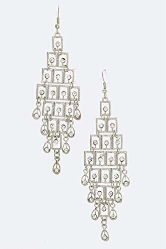 Chic Chelsea Crystal Chandalier Fashion Earrings