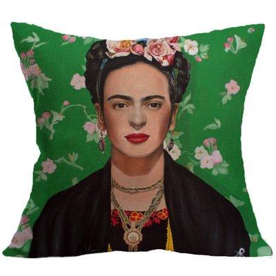 Asremit Frida Caro Mujer Retrato Funda de Almohada cojín de ...