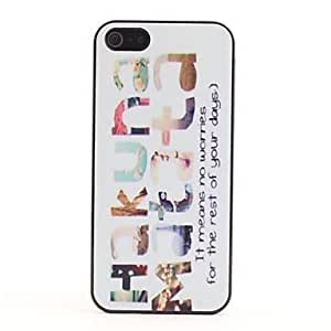 iPhone 5S Case, HugoFan HAKUNA MATATA Pattern Plastic Hard Case for iPhone 5/5S