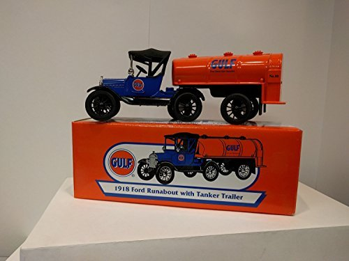 GULF 1918 Ford Runabout with Tanker Trailer by Ertl Collectibles