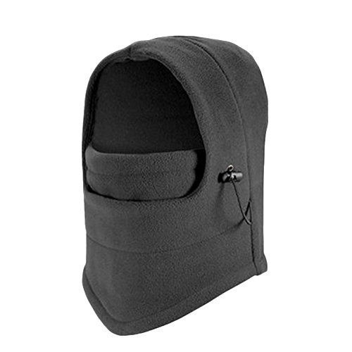 (Kids Winter Fleece Warm Balaclava Motorcycle Ski Windproof Face Mask Hat (Grey))