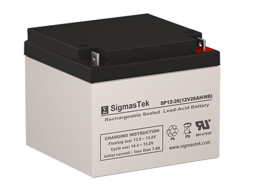 - SigmasTek SP12-26 NB - 12V 26AH NB SLA Battery - Replaces: Yuasa NP23-12B, NP24-12B, NP24-12, Power Sonic PS-12260-NB, Power Patrol BSL1146, SLA1145, SLA1146-NB, Universal Power UB12260 (D5747)