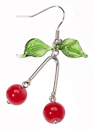 Forum Novelties Women's Retro Rock Novelty Cherry Earrings, Multi, One Size - Cherry Girl Costumes