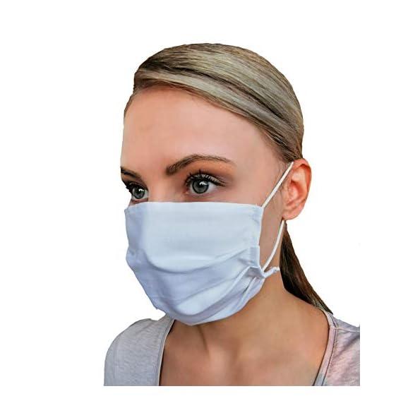 5er-Pack-Mund-Nasen-Maske-waschbar-100-Baumwolle-Stoffmaske-wei-einfarbig
