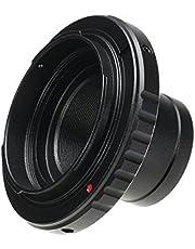 MASUNN Telescopio Fotocamera Lens Adattatore Staffa Metallica 1,25 Pollici T-Ring per Nikon Mount