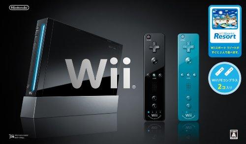 Wii本体 Wiiスポーツリゾート同梱版(クロ)