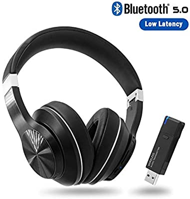Amazon Com Giveet Wireless Gaming Headset Set W Usb Audio Dongle For Ps4 Pc Bluetooth Hi Fi Stereo Headphones W Noise Canceling Mic For Laptop Nintendo Switch Plug N Play Fast Connection No Audio Delay Home