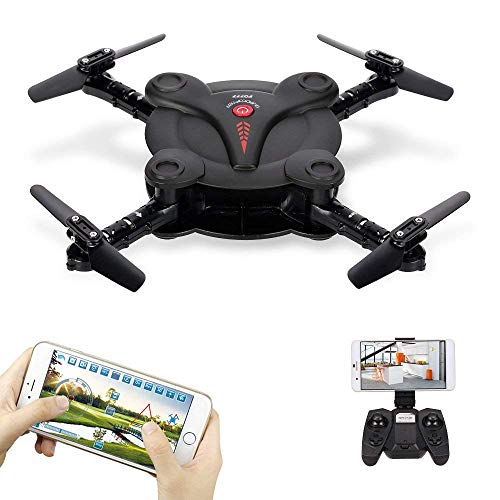 Goolsky Mini RC Quadcopter Foldable Drone with WiFi FPV Camera Live Video Altitude Hold&3D Flips&Gravity Sensor Phone Control or Remote Controller For Sale
