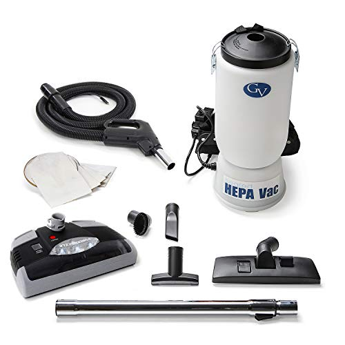 GV 6 Quart HEPA Backpack Vacuum with Powerhead Kit and Professional Tools
