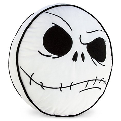(Disney Nightmare Before Christmas Jack Skellington Head Throw Pillow)