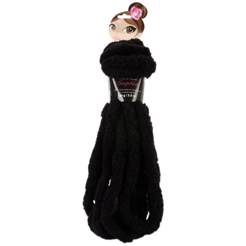 Bernat Knit Or Knot Sophia Yarn, Black