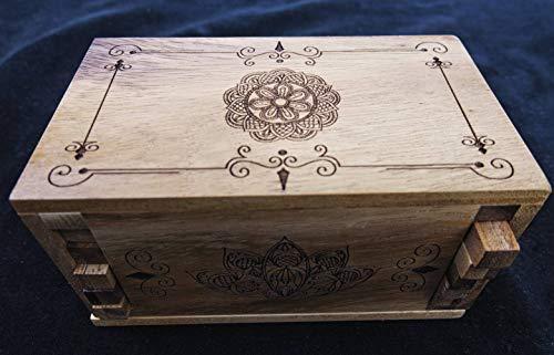 - Secret Lock Box I - premium with Mandala laser engraved artwork