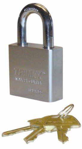 Trimax TPL175S Square Hardened 50mm Solid Steel Padlock 1.25'' x 10mm Dia. Shackle - Rekeyable