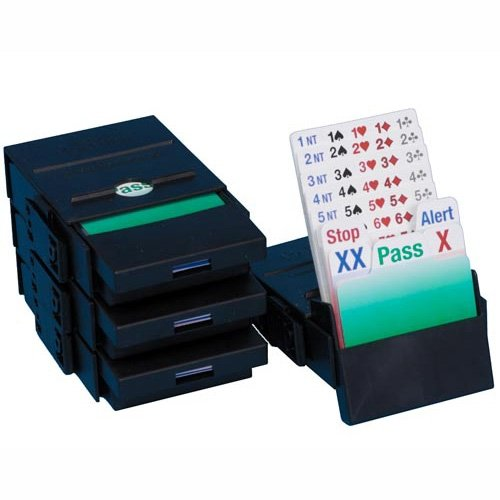 Baron Barclay Bridge Partner Bidding Device with Laquered Cards Boxes Set of 4