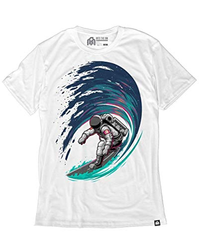 INTO THE AM Star Surfer Men's Graphic Tee Shirt (White, 3X-Large)