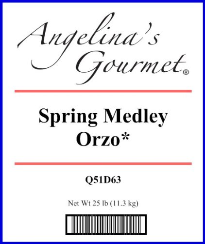 Orzo, Spring Medley* - 25 Lb Bag Each by Woodland Ingredients