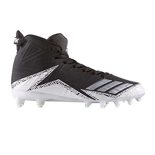 adidas Men's Freak X Carbon Mid Football Black/Silver/White 9.5 D -