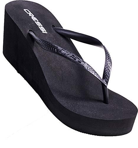 36 Marbella Lady Tongs Heel Noir Cressi Et Femme High 35 Flops La Plage Piscine Pour E6S4nqC