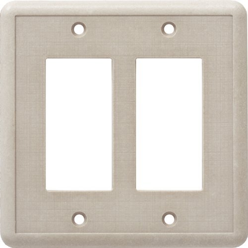 Cast Stone Switchplate - CAST STONE DOUBLE GFCI SWITCH PLATE IVORY