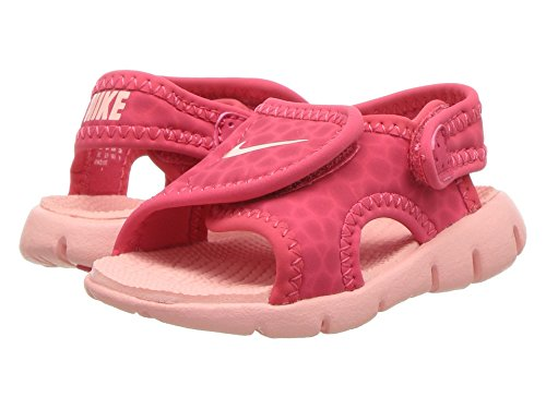 NIKE Sunray Adjust 4 (TD) Baby-Boys Slippers 386521-608_6C - Tropical Pink/Bleached Coral - Image 6