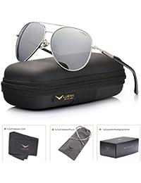 Aviator Sunglasses Mens Womens Polarized Mirror - UV 400...