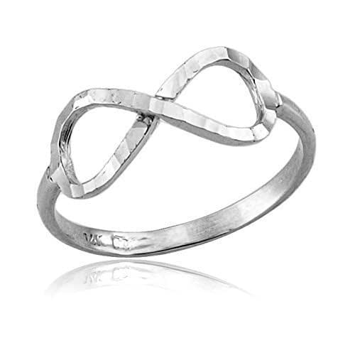 Amazon.com: Delicate Solid Gold Infinity Ring for Women in ...