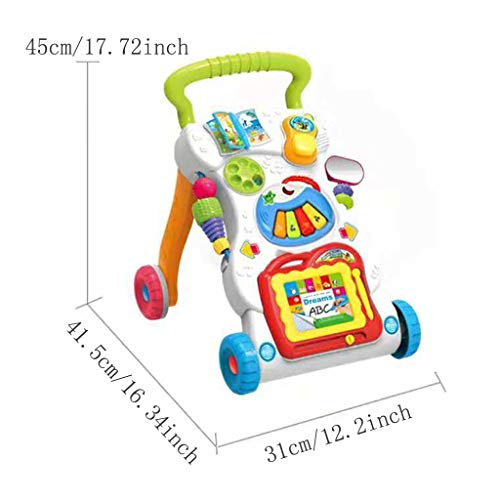 Baby Sit-to-Stand Learning Walker, First Steps Baby Activity Walker, Toddlers Musical Fun Table, Learning, Birthday Gift for Infants, Boys, Girls by Ljnuanrg toys & games (Image #4)