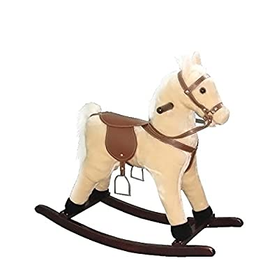 "Alexander Taron Rocking Horse Palomino with Sounds 24""""H x 12""""W x 29""""D , Kid ,Toy , Hobbie , Nice Gift"