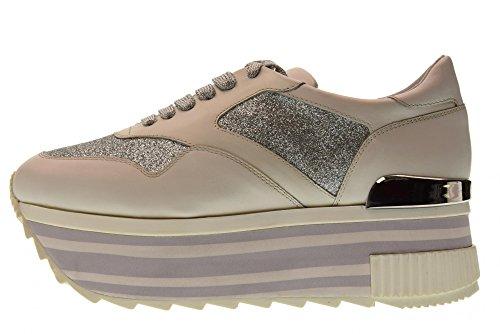 Q1800x Altraofficina argento Con Bianco Sneakers argento Bianco Piattaforma Scarpe Donna XxnqXU