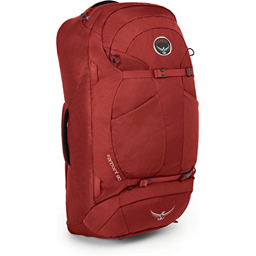 Osprey Packs Farpoint 80 Travel Backpack, Jasper Red, Sma...