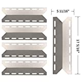 SHINESTAR Grill Parts for Charmglow 720-0234, 720-0289, Perfect Flame 720-0335, Nexgrill, Kirkland, 17 5/16 inch Stainless Steel Heat Shield Plate Tent Flame Tamer Burner Cover(Set of 5, SS-HP029)