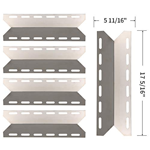 SHINESTAR Grill Replacement Parts for Charmglow 720-0234, 720-0289, Perfect Flame 720-0335, Nexgrill, Kirkland, 17 5/16 inch Stainless Steel Heat Shield Plate Tent Burner Cover Flame Tamer(SS-HP029) For Sale