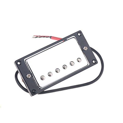 - Musiclily 50mm Humbucker Pickups Double Coil Neck Pickup for Les Paul Style Electric Guitar, Chrome