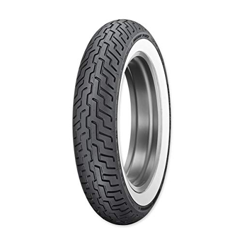 Dunlop Harley-Davidson D402 Front Motorcycle Tire MT90B-16 (72H) Wide White Wall - Fits: Harley-Davidson CVO Dyna Fat Bob FXDFSE 2009-2010