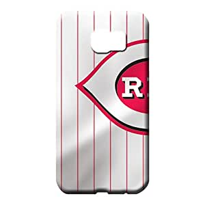samsung galaxy s6 cases Bumper Back Covers Snap On Cases For phone mobile phone shells cincinnati reds mlb baseball