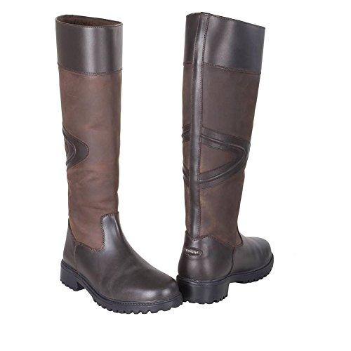 Toggi Boot Long Rundle Chocolate Leather Country Bitter FFHqR
