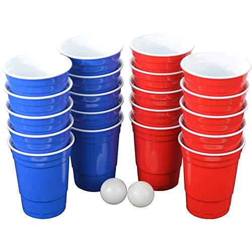 Aromzen Pro Series Beer Pong Set, with Hard Plastic Melamine, 20 Cups