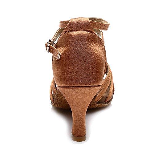 Ballo Scarpe ITQ213 da Tacco Tacco Marrone Model altezza Altezza 7cm Donna 7CM Latino Standard 5CM HIPPOSEUS f PqgnI1Hx