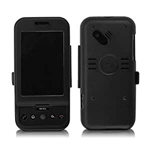 T-Mobile G1 Case, BoxWave® [AluArmor Jacket] Tough Armor Metal Cover for T-Mobile G1 - Black