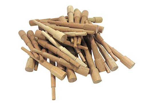"Miller Dowel C15D14-40 Set of 40 Each 2X Cherry Stepped Dowels 1/2"" Diameter for Stock up to 1-5/8"" Thick"