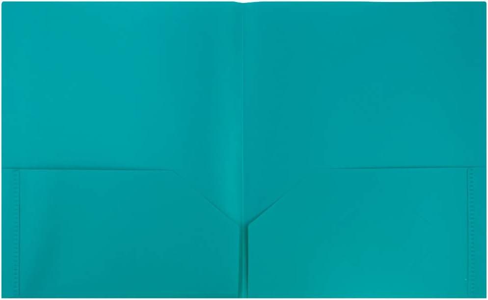 Clear JAM PAPER Plastic 2 Pocket School POP Folders 6//Pack