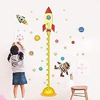 Muursticker ZOZOSO zonnestelsel hoogte meting muur Stickers voor kinderen kamers sterren ruimte buitenste hemel raket…