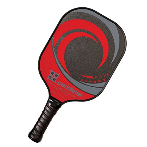 Paddletek Tempest Wave Pickleball Paddle, New Graphite Polymer Composite (red)
