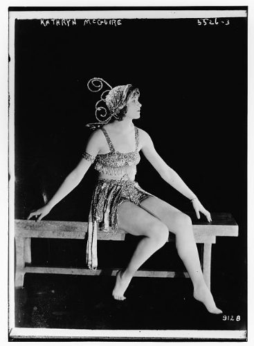 Silent Film Actress Costume (Photo: Kathryn McGuire,silent film actress,dancer,beaded costumes,Bain News Service)