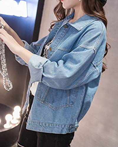 Cappotto Blu1 Denim Cappotti Capispalla Di Jeans Donna Giacca Kasen q8vXwX