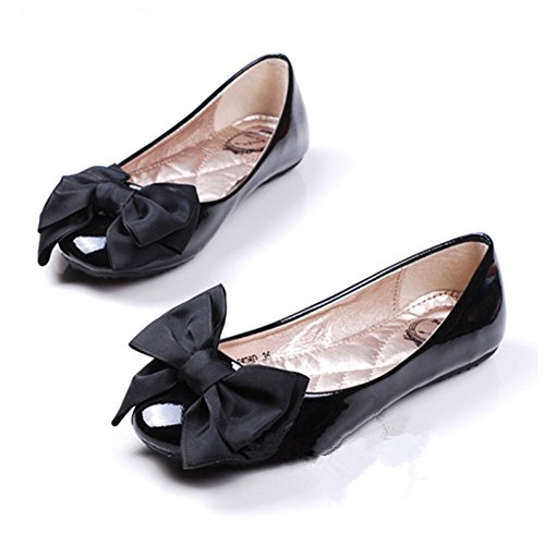 Douqu 8.5cm Bridal Wedding Black Cream Red Nude Blue Pink Wild Ribbon Bow Butterfly Shoe Clips (Black) (Bow Shoe Clips)
